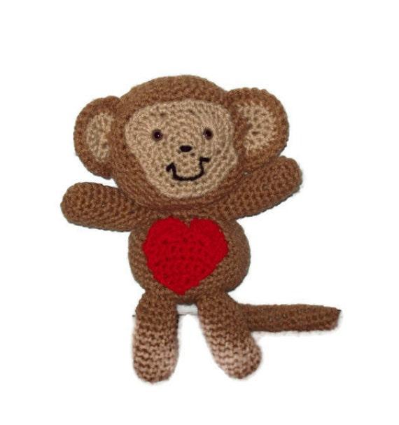 Amigurumi Valentine : Valentines Day Love Monkey Crocheted Amigurumi by ...