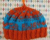 go away blue & orange hat
