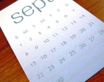Mini 12 Month Calendar - Desktop Calendar - Mini Calendar - Pocket Sized Calendar - Custom Calendar - Customized Calendar - Ombre Calendar