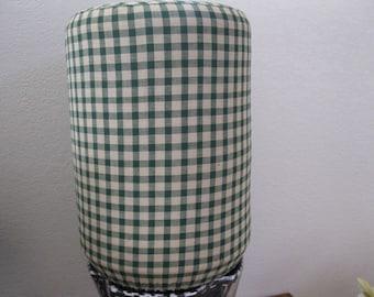 5 gallon Cooler Decor - Hunter Green and Beige