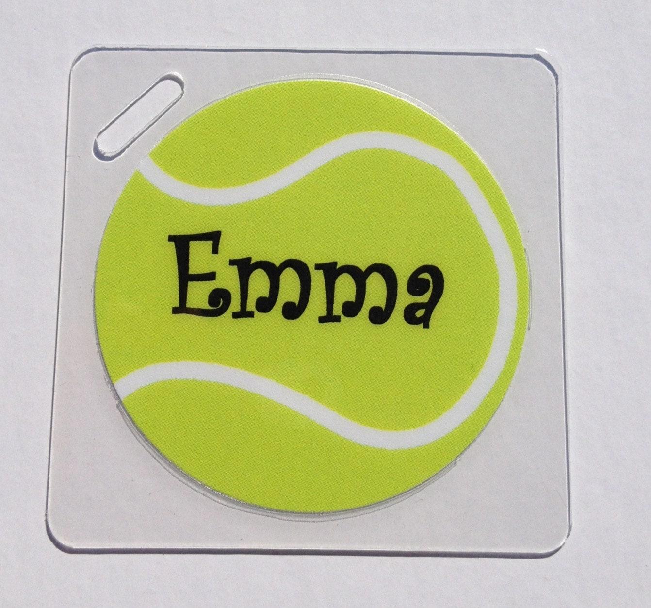 tennis bag tag tennis name tag kids bag tag tennis