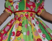 American Girl Doll Clothes - Colorful Spring Dress