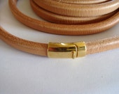Gold Magnetic Clasp for use Oval Licorice Leather, Braided Leather and Rubber Cord 10x6mm- 1 clasp