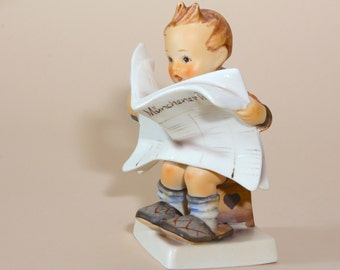 "Hummel Figurine - Latest News - 184  TMK3 - 5-1/4"" SQUARE BASE Older Version"