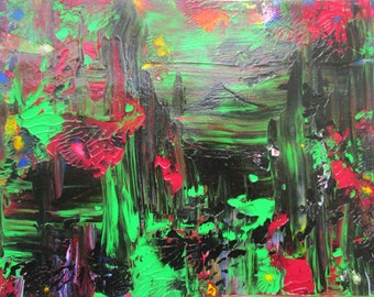 Outer Limits Original Abstract Acrylic Painting in White Mat