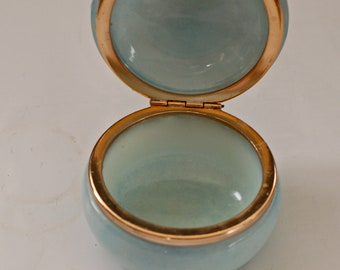 Translucent blue stone container