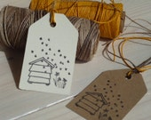 Busy Beehive Olive Wood Stamp