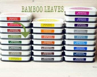 Large MEMENTO  raised dye ink pad BAMBOO LEAVES