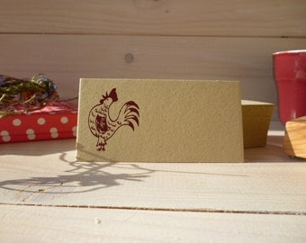 Early Bird Cockerel Olive Wood Stamp