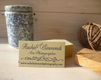 Ocean Inspired 3 Line  Olive Wood Business Stamp
