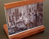 5 x 7 Landscape Photo Frame  in Walnut and Cherry - Housewarming Gift