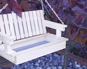 Wood bird feeder, Bird Feeder, swing feeder, squirrel feeder - poplar hard wood - optional personalization