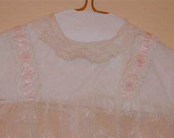 Child's White Voile Dress