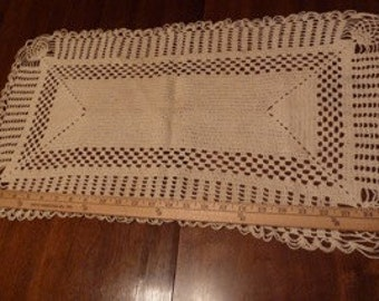 Rectangular Shaped Doily