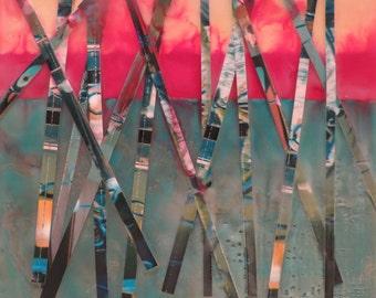 Sticks, Original Encaustic Artwork