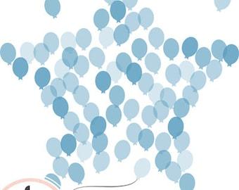 Nursery Art Kid's Room Dream Star Balloons