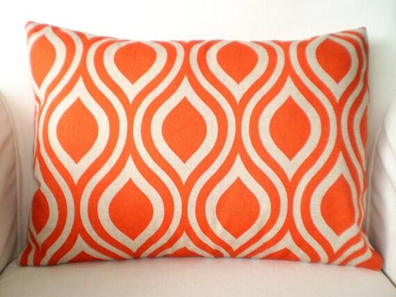 Orange Pillow Cover Lumbar Throw Pillows Decorative Cushion
