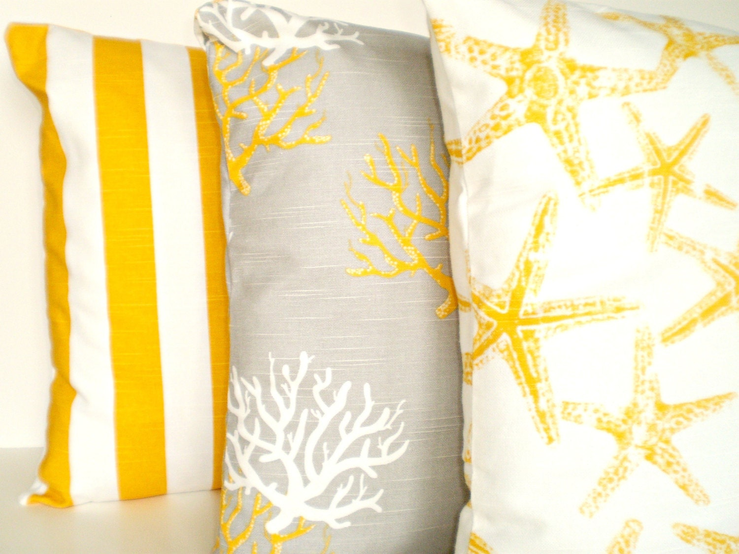 Throw Pillow Covers Nautical : Yellow Nautical Throw Pillow Covers Decorative Pillow