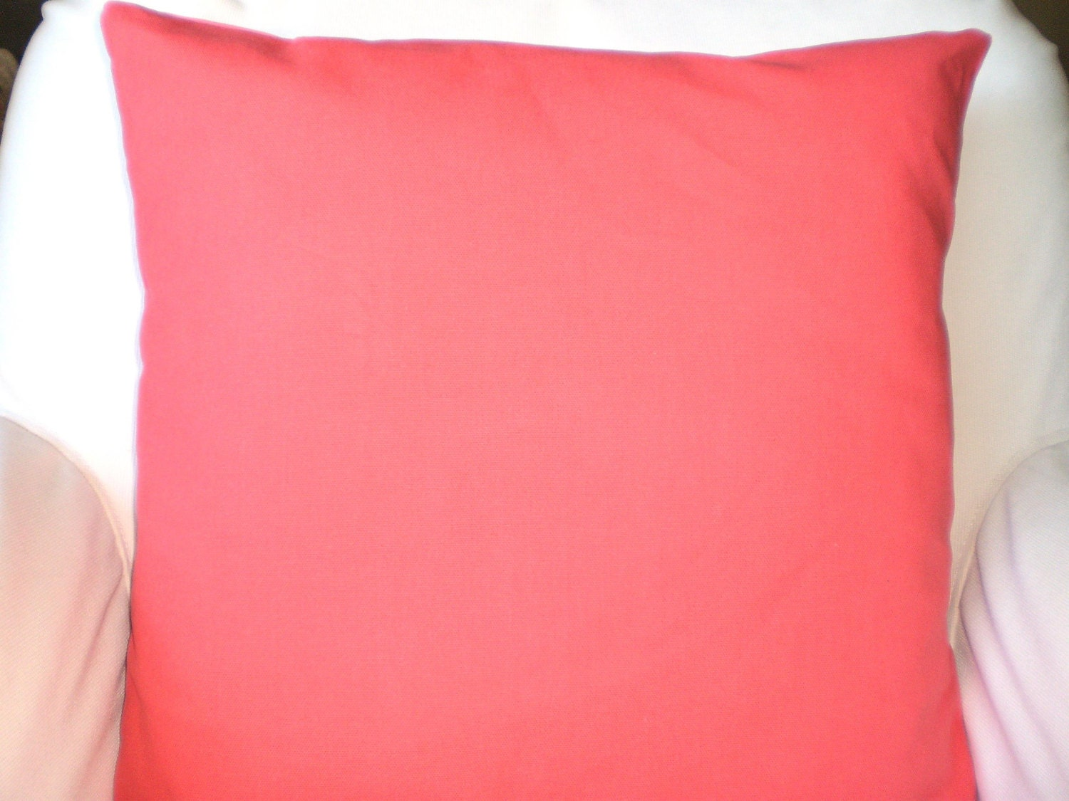 Solid Coral Pillow Covers Decorative Throw by FabricJunkie1640