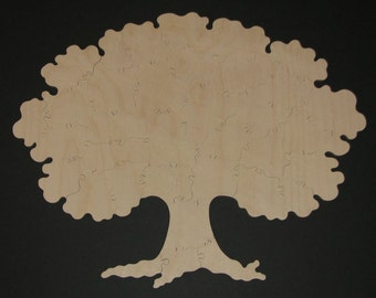 45 pc Puzzle Guest Book - Hand Cut Wooden Jigsaw Puzzle for Weddings, Family Reunions, etc.