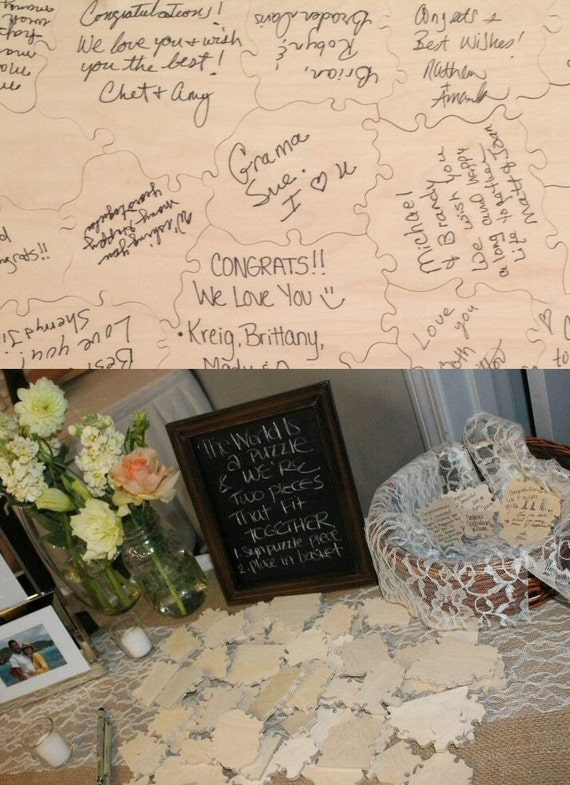 Reserved Plain Wedding Guest Book Puzzle 49 54 By KeystonePuzzles