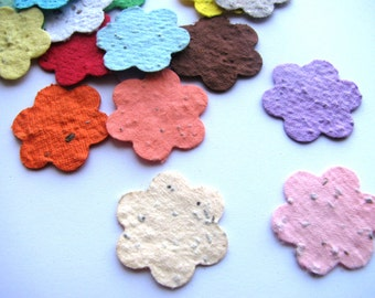 400 Plantable confetti FLOWERS- choose from 16 colors- Wildflower blend