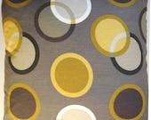 Brown Pillow Cover -  Taupe Pillow - Modern Pillow - Abstract Pillow - Circles - Yellow - Gold
