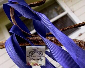 Rayon Seam Binding Ribbon Dark Royal Navy Blue