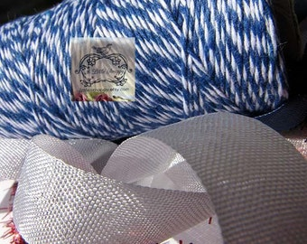 Bakers Twine in Royal Blue/Navy and White