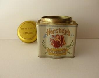 Vintage Hershey's Decorative TIN - chocolate, reproduction