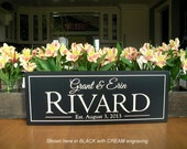 Bridal shower gift  Family Name Sign Carved Personalized Family Name Sign