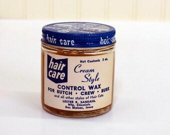 1950s Hair Care Cream Wax For Butch Crew Burr Cuts