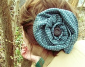 spring green fancy fascinator - handcrafted silk neck tie - a vintage alternative look for the modern lady - handmade by TWEEK just for you