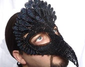 Vulture masquerade mask, mens mask, halloween mask, animal mask, costume, accessory, handmade mask, venetian mask