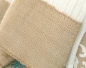 burlap trim dish towel