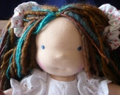 Waldorf doll, 12 inch, child friendly, human figure doll, natural materials, girl doll by hippiehousedolls