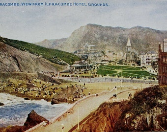 Ilfracombe, Devon, England - Vintage English Postcard