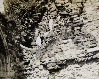 Vintage 1920's Photograph - Women Stood in Ruins