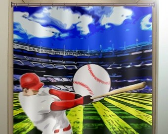 Baseball curtains – Etsy