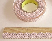 Romantic Lace Adhesive Fabric Tape - Pale Pink (0.5in)
