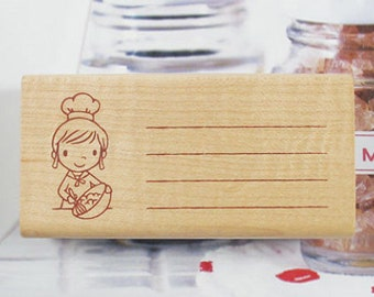 Bakery Memo Stamp - Ver. 2 (3.2 x 1.6in)