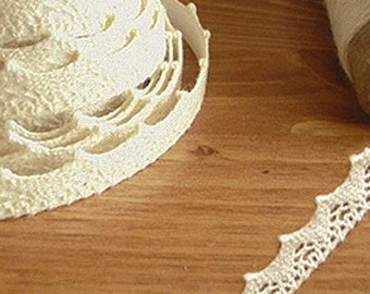 Natural Lace Adhesive Fabric Tape - 03.Beige (0.55in)