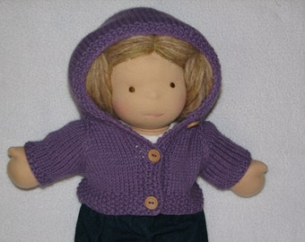 "Doll Sweater Hoodie / Hooded / with Hood - MADE to ORDER  for 15"" Doll"