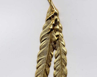 Double Feather Brass Metal Stamping