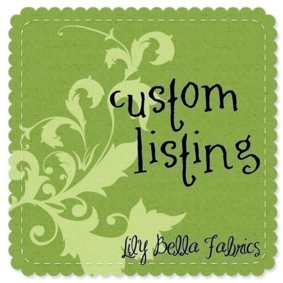 Custom Listing for babyharrill