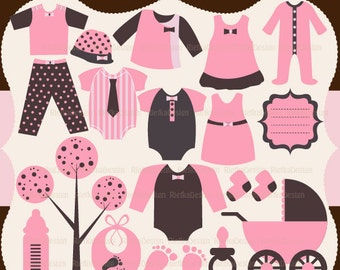 Baby Clothing for Girl Clipart