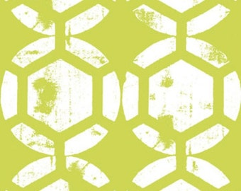 Ty Pennington Home Decorator Weight Fabric, Honeycomb in Chartreuse, Impressions Collection, 1 Yard