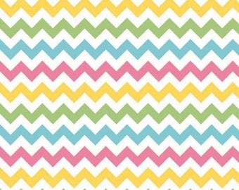 Small Chevron in Girl by Riley Blake Fabrics, 1 Yard