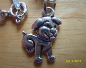 Dog Charm, Costume Jewelry, Dog Pendant with Sterling Silver Chain Necklace, Dogs. Puppies