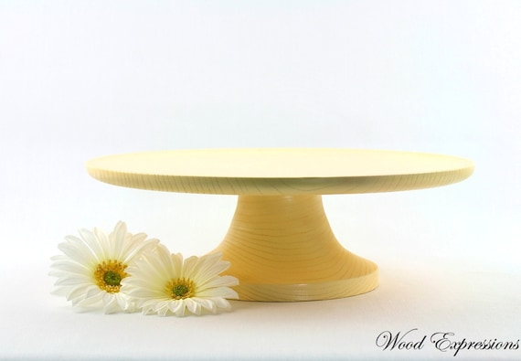 12 inch cake stand 12 inch yellow cake stand wooden pedestal serving cake 1017